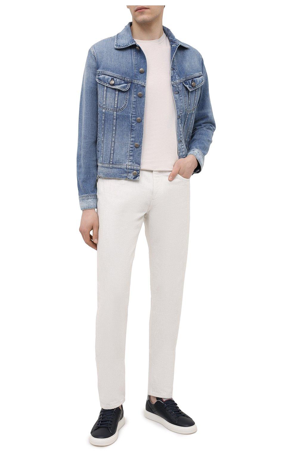 Мужская джинсовая куртка RALPH LAUREN синего цвета, арт. 790787189   Фото 2