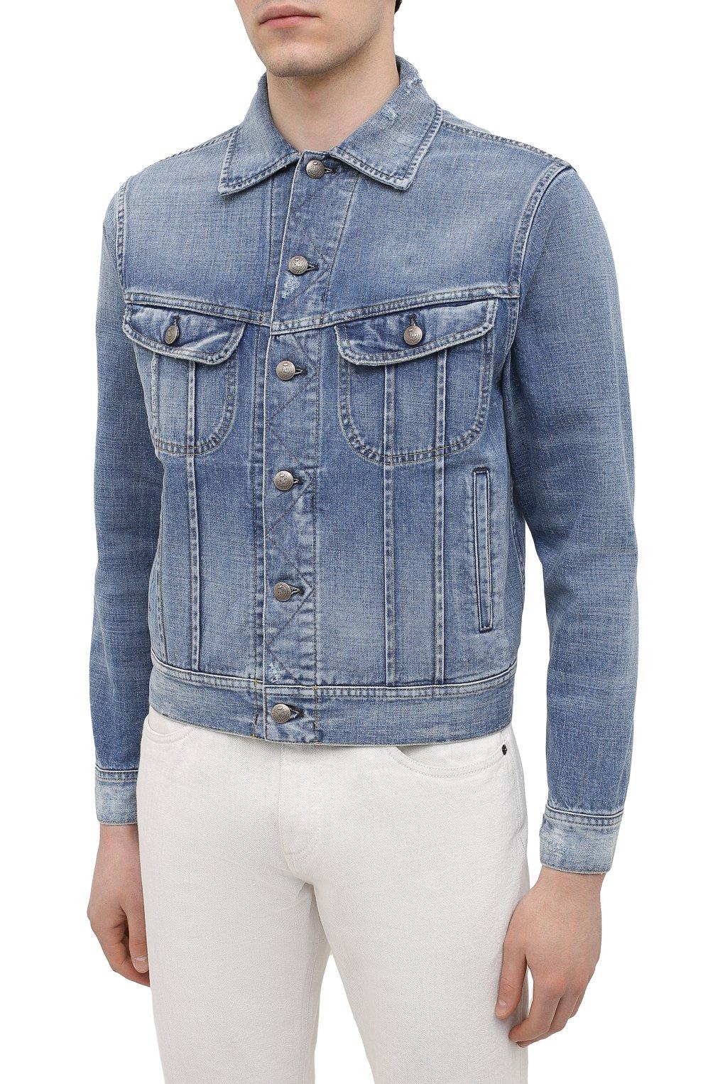 Мужская джинсовая куртка RALPH LAUREN синего цвета, арт. 790787189   Фото 3