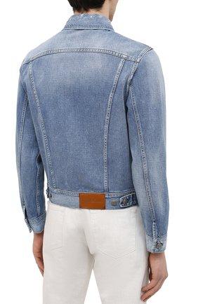 Мужская джинсовая куртка RALPH LAUREN синего цвета, арт. 790787189   Фото 4