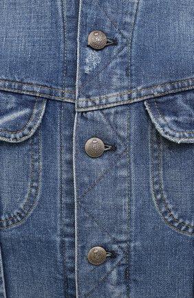 Мужская джинсовая куртка RALPH LAUREN синего цвета, арт. 790787189   Фото 5