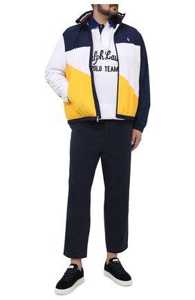 Мужские хлопковые брюки POLO RALPH LAUREN темно-синего цвета, арт. 711740566/PRL BS | Фото 2