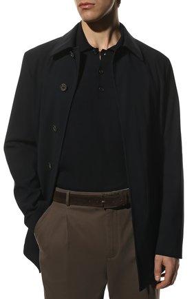 Мужской замшевый ремень DOUCAL'S темно-коричневого цвета, арт. DC0001SIGMUF0479M00   Фото 2