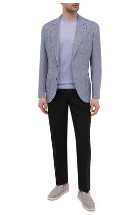 Мужские льняные брюки RALPH LAUREN черного цвета, арт. 798830244 | Фото 2 (Длина (брюки, джинсы): Стандартные; Материал внешний: Лен; Случай: Повседневный; Материал подклада: Вискоза; Стили: Кэжуэл)