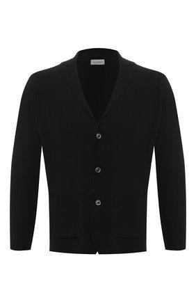 Мужской шерстяной кардиган JOHN SMEDLEY черного цвета, арт. 0XLAND | Фото 1