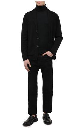Мужской шерстяной кардиган JOHN SMEDLEY черного цвета, арт. 0XLAND | Фото 2