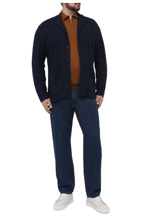 Мужской кардиган из хлопка и кашемира CORTIGIANI темно-синего цвета, арт. 119141/0000/60-70 | Фото 2