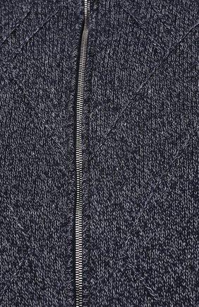 Мужской кардиган из хлопка и кашемира CORTIGIANI синего цвета, арт. 119151/0000/60-70   Фото 5 (Big sizes: Big Sizes; Мужское Кросс-КТ: Кардиган-одежда; Рукава: Длинные; Длина (для топов): Стандартные; Материал внешний: Хлопок; Стили: Кэжуэл)