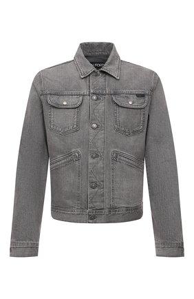 Мужская джинсовая куртка TOM FORD светло-серого цвета, арт. BWJ40/TFD116 | Фото 1