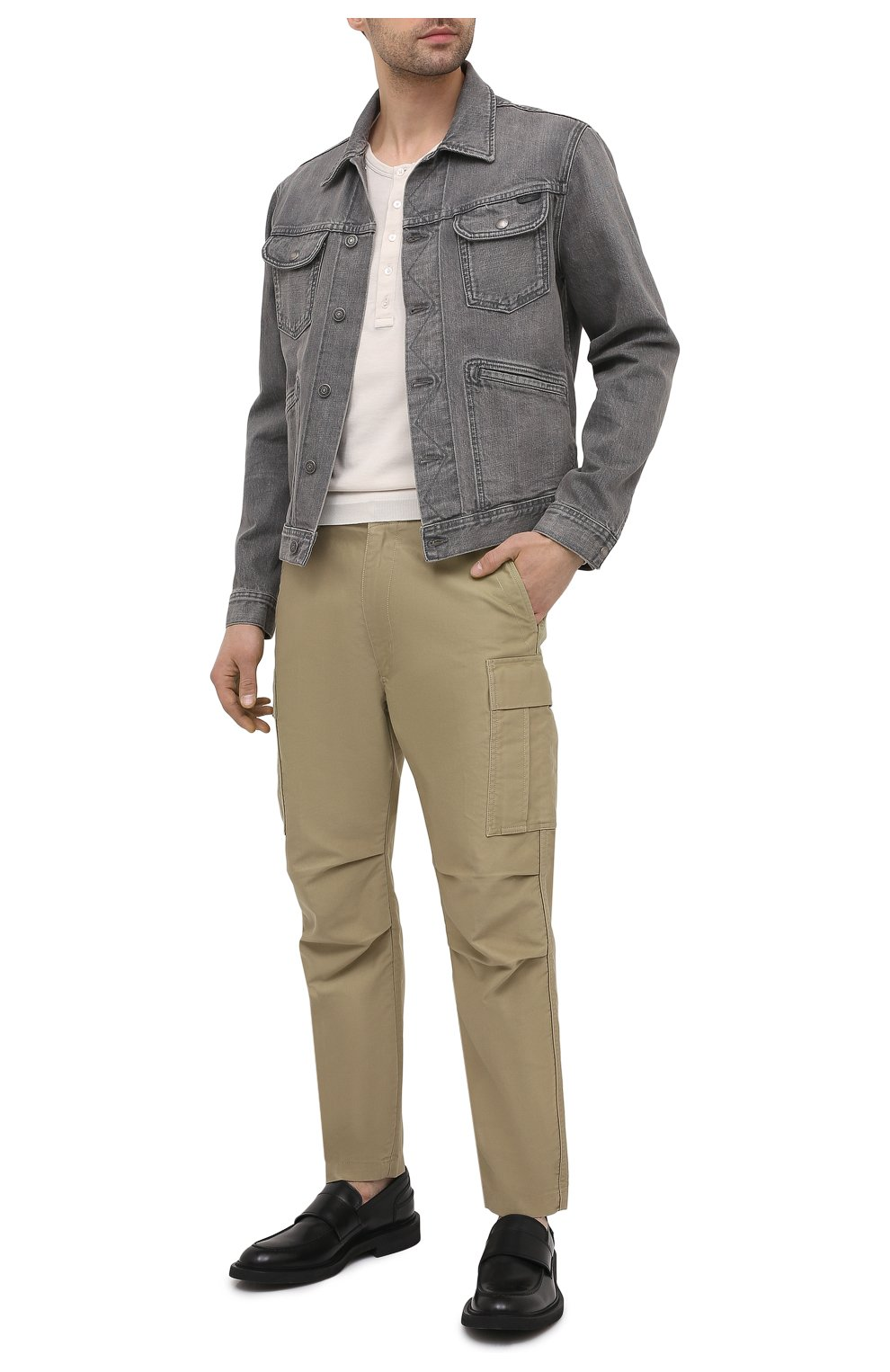 Мужская джинсовая куртка TOM FORD светло-серого цвета, арт. BWJ40/TFD116   Фото 2