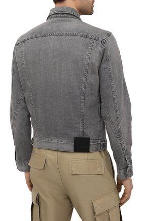 Мужская джинсовая куртка TOM FORD светло-серого цвета, арт. BWJ40/TFD116   Фото 4