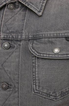 Мужская джинсовая куртка TOM FORD светло-серого цвета, арт. BWJ40/TFD116   Фото 5