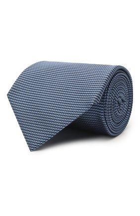 Мужской шелковый галстук TOM FORD синего цвета, арт. 9TF07/XTF | Фото 1