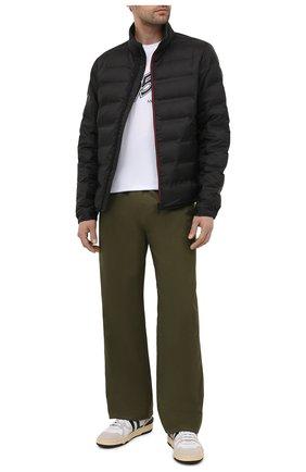 Мужская пуховая куртка helfferich 2 moncler 1952 MONCLER GENIUS черного цвета, арт. G1-092-1A544-40-57425 | Фото 2 (Длина (верхняя одежда): Короткие; Материал внешний: Синтетический материал; Материал утеплителя: Пух и перо; Кросс-КТ: Куртка; Стили: Гранж; Мужское Кросс-КТ: пуховик-короткий; Рукава: Длинные; Материал подклада: Синтетический материал)