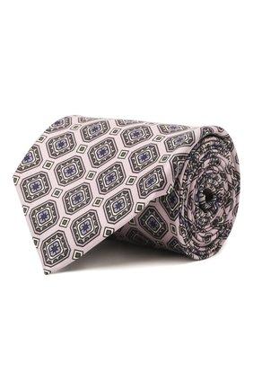 Мужской комплект из галстука и платка BRIONI светло-розового цвета, арт. 08A900/P042H | Фото 1