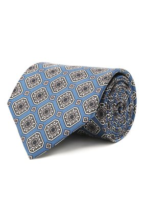 Мужской комплект из галстука и платка BRIONI голубого цвета, арт. 08A900/P042H   Фото 1 (Материал: Текстиль, Шелк)