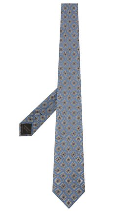 Мужской комплект из галстука и платка BRIONI голубого цвета, арт. 08A900/P042H   Фото 2 (Материал: Текстиль, Шелк)