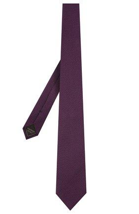 Мужской шелковый галстук BRIONI фиолетового цвета, арт. 061D00/P041W | Фото 2 (Материал: Текстиль; Принт: Без принта)