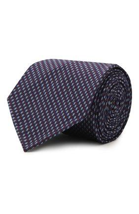 Мужской шелковый галстук BRIONI темно-синего цвета, арт. 061I00/P0427 | Фото 1