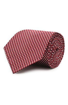 Мужской шелковый галстук BRIONI красного цвета, арт. 061I00/P0427   Фото 1 (Материал: Текстиль, Шелк; Принт: С принтом)