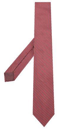 Мужской шелковый галстук BRIONI красного цвета, арт. 061I00/P0427   Фото 2 (Материал: Текстиль, Шелк; Принт: С принтом)