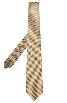 Мужской шелковый галстук BRIONI желтого цвета, арт. 061I00/P0427 | Фото 2 (Материал: Шелк, Текстиль; Принт: С принтом)