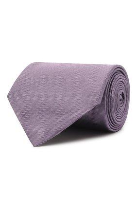 Мужской шелковый галстук BRIONI сиреневого цвета, арт. 062I00/08435 | Фото 1