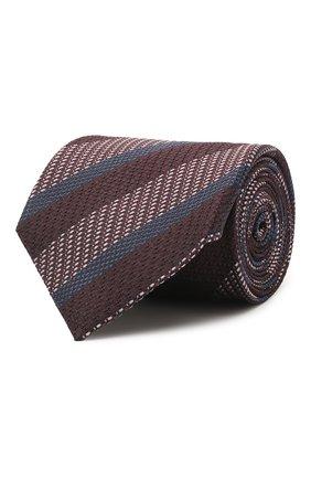 Мужской шелковый галстук BRIONI коричневого цвета, арт. 062I00/P041Q | Фото 1