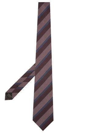 Мужской шелковый галстук BRIONI коричневого цвета, арт. 062I00/P041Q | Фото 2