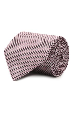 Мужской шелковый галстук BRIONI сиреневого цвета, арт. 062I00/P0427 | Фото 1