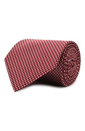 Мужской шелковый галстук BRIONI красного цвета, арт. 062I00/P0427   Фото 1 (Принт: С принтом; Материал: Текстиль, Шелк)