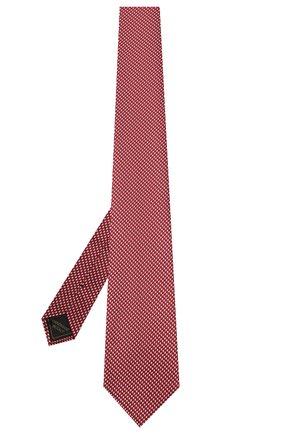 Мужской шелковый галстук BRIONI красного цвета, арт. 062I00/P0427   Фото 2 (Принт: С принтом; Материал: Текстиль, Шелк)