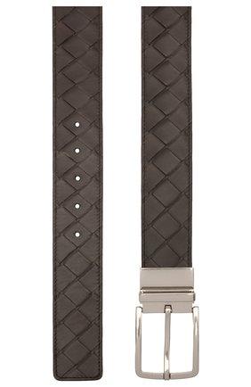 Мужской кожаный ремень BOTTEGA VENETA темно-коричневого цвета, арт. 652944/VCPQ1 | Фото 2 (Случай: Повседневный)
