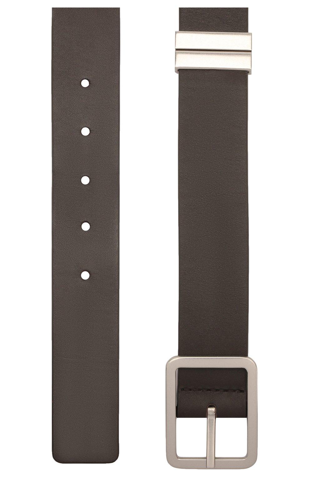 Мужской кожаный ремень BOTTEGA VENETA темно-коричневого цвета, арт. 649371/VA9B0 | Фото 2 (Случай: Повседневный)