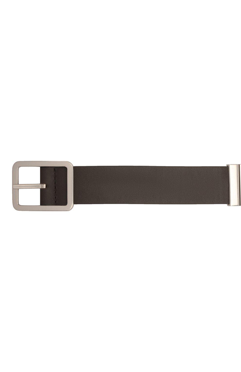 Мужской кожаный ремень BOTTEGA VENETA темно-коричневого цвета, арт. 649371/VA9B0 | Фото 3 (Случай: Повседневный)