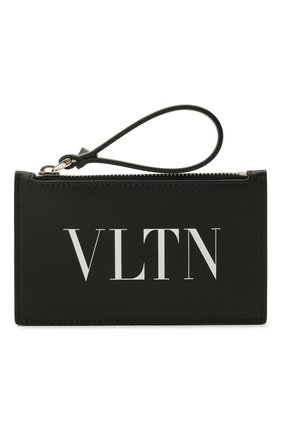 Мужской кожаный футляр для кредитных карт valentino garavani VALENTINO черно-белого цвета, арт. VY2P0540/LVN | Фото 1