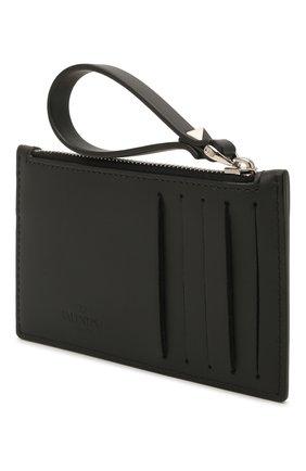 Мужской кожаный футляр для кредитных карт valentino garavani VALENTINO черно-белого цвета, арт. VY2P0540/LVN | Фото 2