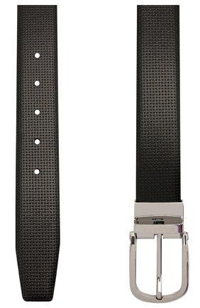 Мужской кожаный ремень CANALI черного цвета, арт. 50C/KA00314 | Фото 2