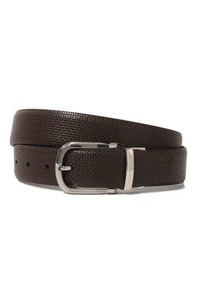 Мужской кожаный ремень CANALI темно-коричневого цвета, арт. 50C/KA00314 | Фото 1