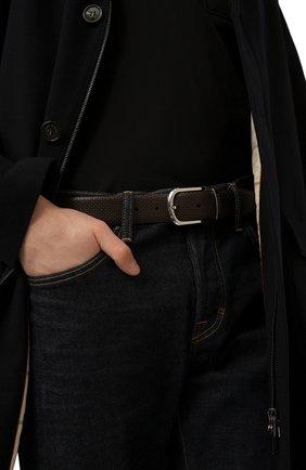 Мужской кожаный ремень CANALI темно-коричневого цвета, арт. 50C/KA00314 | Фото 2