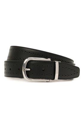Мужской кожаный ремень CANALI черного цвета, арт. 50C/KX00312   Фото 1