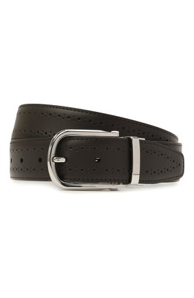 Мужской кожаный ремень CANALI темно-коричневого цвета, арт. 50C/KX00312 | Фото 1