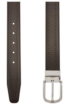 Мужской кожаный ремень CANALI темно-коричневого цвета, арт. 50C/KX00312 | Фото 2