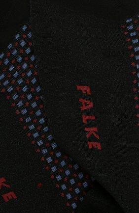 Мужские хлопковые носки FALKE черного цвета, арт. 12437 | Фото 2