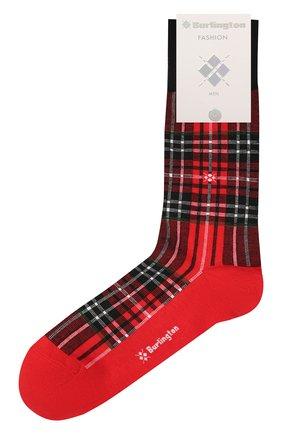 Мужские носки из хлопка и шерсти BURLINGTON красного цвета, арт. 21908 | Фото 1