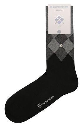 Мужские хлопковые носки BURLINGTON серого цвета, арт. 21912 | Фото 1
