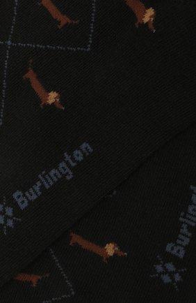 Мужские хлопковые носки BURLINGTON черного цвета, арт. 21921 | Фото 2