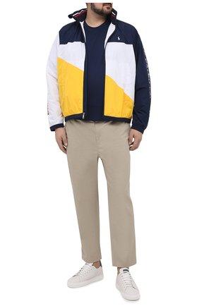 Мужская хлопковая футболка POLO RALPH LAUREN темно-синего цвета, арт. 711746817/PRL BS | Фото 2