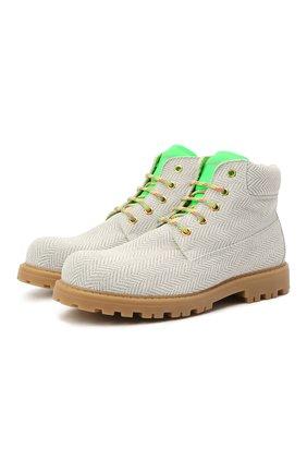 Детские кожаные ботинки RONDINELLA белого цвета, арт. 11200-7/6394/37-39 | Фото 1