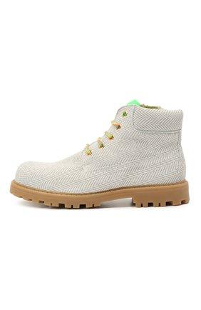 Детские кожаные ботинки RONDINELLA белого цвета, арт. 11200-7/6394/37-39 | Фото 2