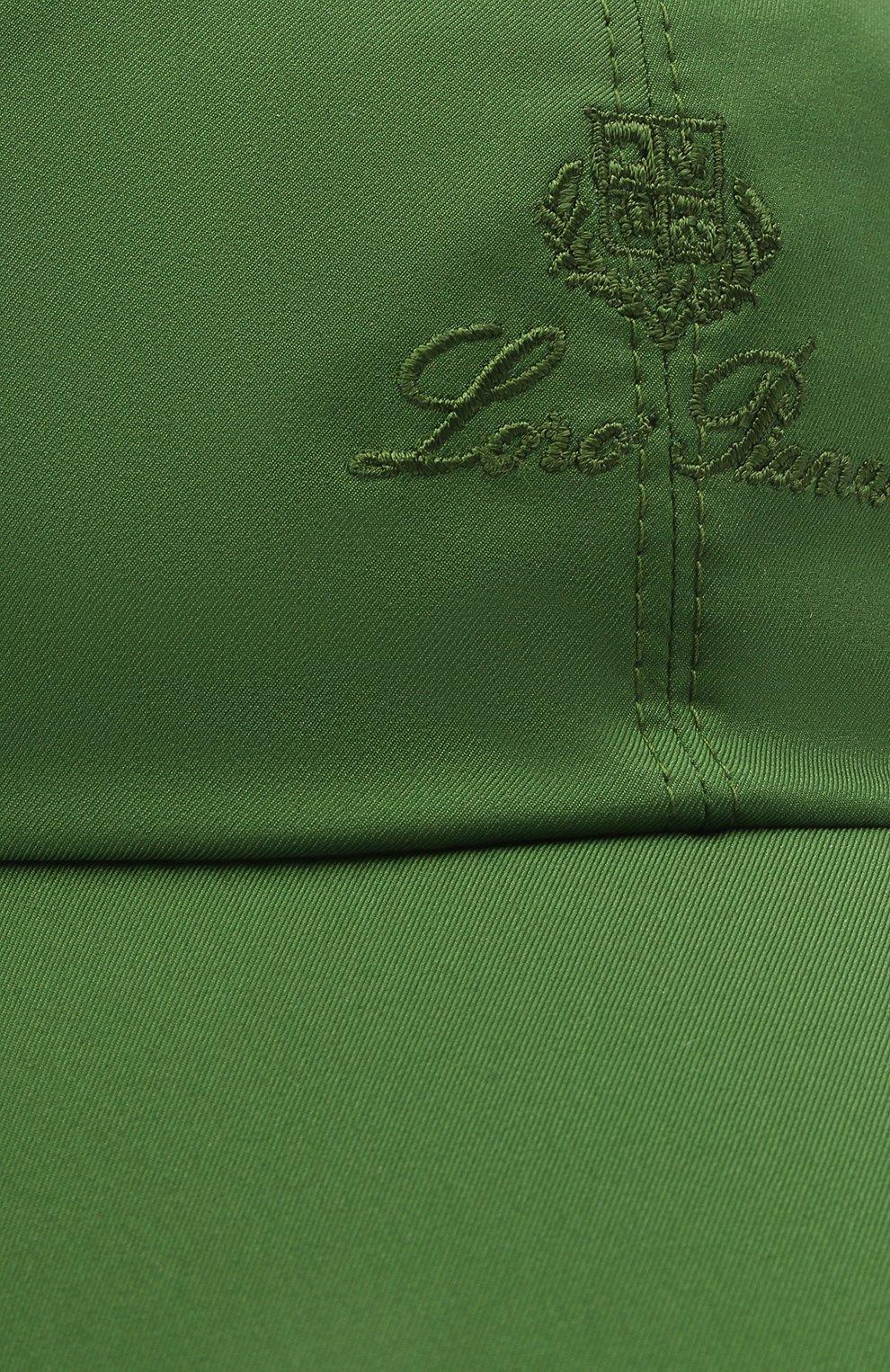 Детская бейсболка LORO PIANA зеленого цвета, арт. FAE8580 | Фото 3